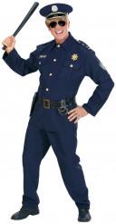 Polis-utklädnad för vuxna till maskeraden