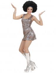 Silverfärgad discopingla - Utklädnad för vuxna