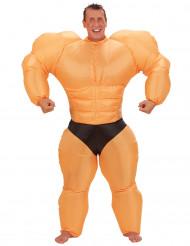 Uppblåsbar Bodybuilder - utklädnad vuxen
