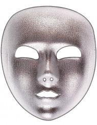 Silverfärgad mask i venetianskstil - Maskeradmask för vuxna