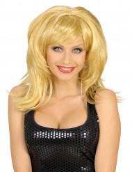 Rockstar - Blond peruk för vuxna till festen