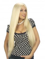Blond damperuk med långt hår