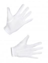 Korta vita handskar vuxna
