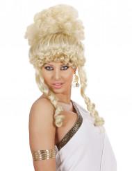 Krullig Blond gudinneperuk