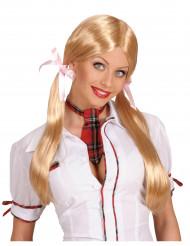 Blond skolflicksperuk