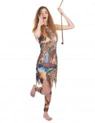 Kostym med jungelfläkt dam