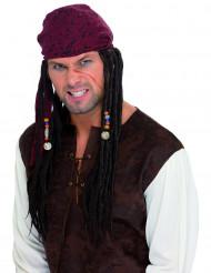 Piratperuk med dreadlocks