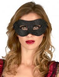 Svart ögonmask med paljetter vuxna