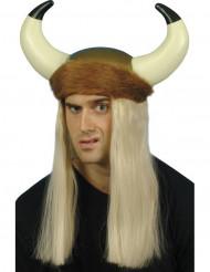 Supporterhjälm med blont hår vuxen