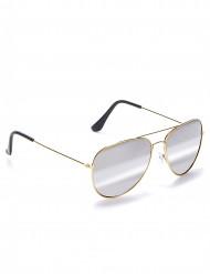 Pilotglasögon med guldbågar vuxna