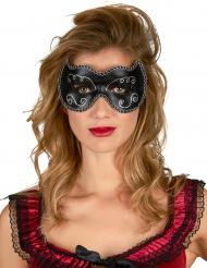 Ögonmask i svart och guld vuxna