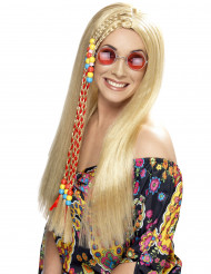 Blond hippieperuk