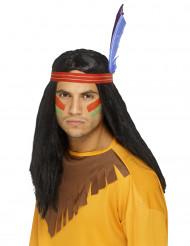 Indiankrigare - Maskeradperuk för vuxna