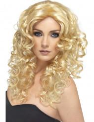 Vackra blonda lockar - Peruk för vuxna till maskisen