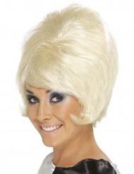 Beehive blond peruk