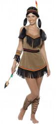 Maskeraddräkt indian kvinnlig