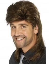 Brun peruk med hockeyfrilla herrar