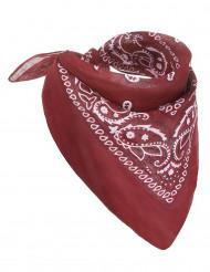 Vinröd snusnäsduk för cowboys - Maskeradtillbehör