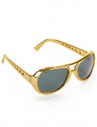Guldfärgade glasögon Elvis™
