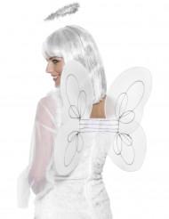 Vita änglavingar - Maskeradtillbehör för vuxna