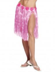 Ljusrosa söderhavskjol för vuxna till maskeraden