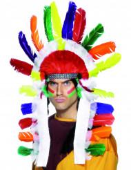 Färggrann indian huvudbonad vuxen