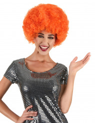 Clownperuk / orange afro vuxen