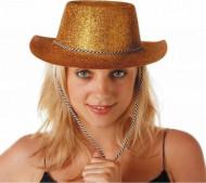Guldglittrig cowboyhatt
