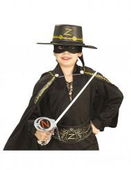 Zorro™-set: plastsvärd, mask och hatt för barn
