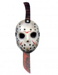 Plastkniv och mask Jason™ Fredagen den 13:e™