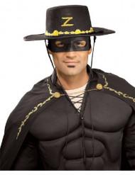 Zorro™ hatt och mask vuxen
