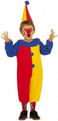 Clowndräkt till maskeraden för barn