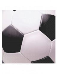 16 Servetter med fotbollstryck 33 x 33 cm