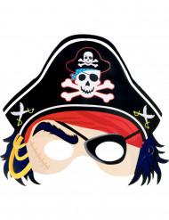 Kartongmask pirat barn