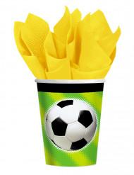 8 muggar med tryck av fotboll - Kalaspynt
