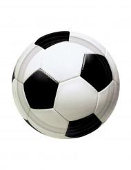 8 tallrikar med tryck av fotboll 18 cm - Kalasdekoration