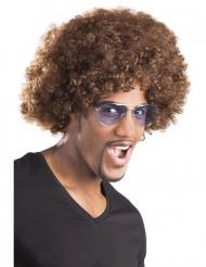 Brun clown/afro peruk