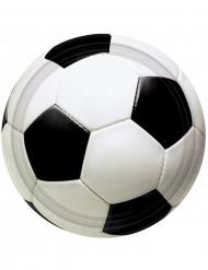 8 tallrikar med tryck av fotboll - Kalasdekoration