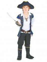 Stilig pirat med blå väst - Maskeraddräkt för barn