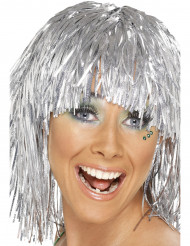 Silverskimrig peruk vuxen