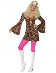 Kramgoa Karin - Hippieklänning för vuxna till temafesten