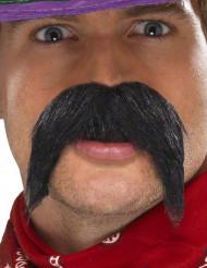 Svart mustasch med Vilda Västern känsla för vuxna
