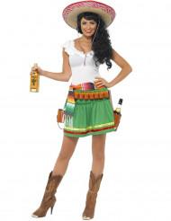 Kostym uppasserska med salsan i blick dam