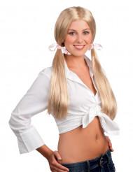 Blond skolflicka peruk vuxen