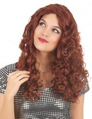 Rödbrun lång peruk vuxen