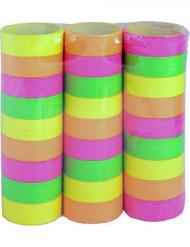 3 rullar serpentiner i neonfärg
