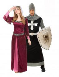 Medeltida Drottning och Riddare - Pardräkt vuxna