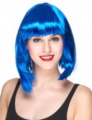 Blå page peruk vuxen