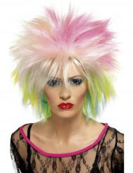Flerfärgad punkperuk för vuxna