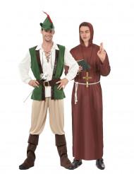 Robin Hood med munk pardräkt vuxen